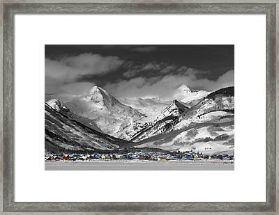 Vintage Crested Butte Framed Print by Dusty Demerson