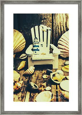 Vintage Cruise Deck Details Framed Print by Jorgo Photography - Wall Art Gallery