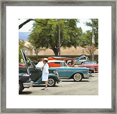 Vintage Cruisers 123 Framed Print by Cindy Nunn