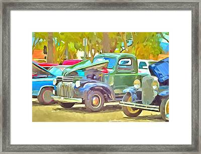 Vintage Cruisers 125 Framed Print by Cindy Nunn