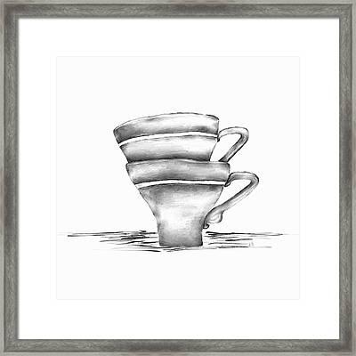 Vintage Cups Framed Print by Brenda Bryant
