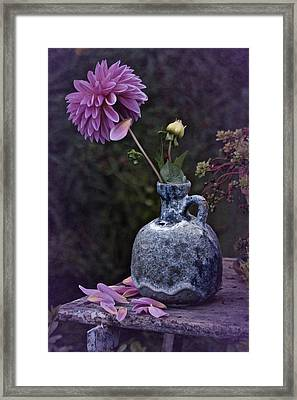 Framed Print featuring the photograph Vintage Dahlia Still Life by Richard Cummings