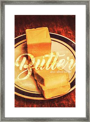 Vintage Dairy Product Advertisement Framed Print by Jorgo Photography - Wall Art Gallery