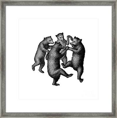 Vintage Dancing Bears Framed Print by Edward Fielding
