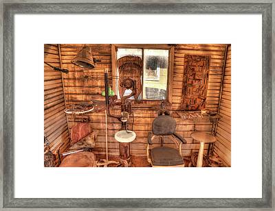 Vintage Dental Room Framed Print by Donna Kennedy