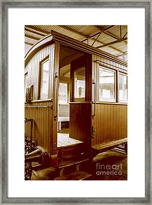 Vintage Departure Framed Print by Jorgo Photography - Wall Art Gallery