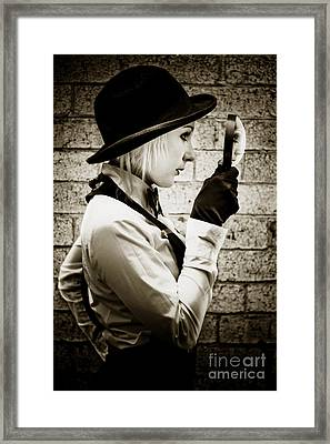 Vintage Detective Framed Print by Jorgo Photography - Wall Art Gallery