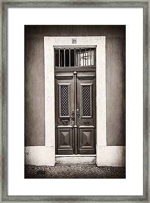 Vintage Door In Lisbon Framed Print by Carol Japp