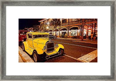 Vintage Dreams And City Lights Framed Print