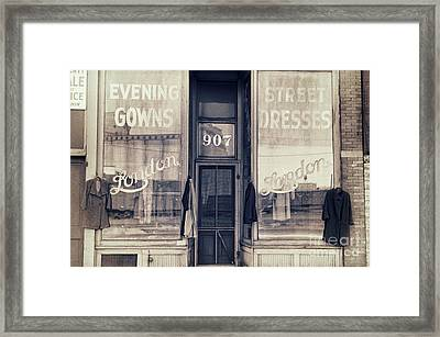 Vintage Dress Shop Framed Print