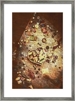 Vintage Dressmakers Table Framed Print by Jorgo Photography - Wall Art Gallery