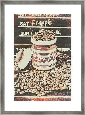 Vintage Drinks Decor  Framed Print
