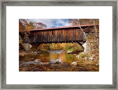 Vintage Durgin Covered Bridge Framed Print by Jeff Folger