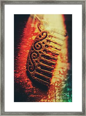 Vintage Egyptian Gold Comb Framed Print