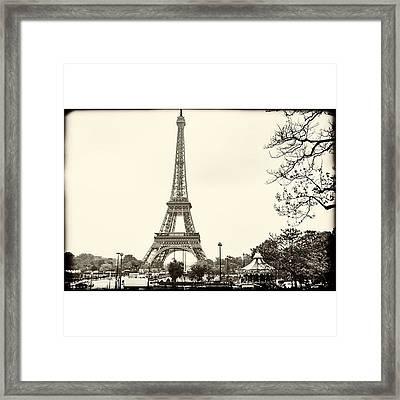 Vintage Eiffel Landscape  #paris Framed Print