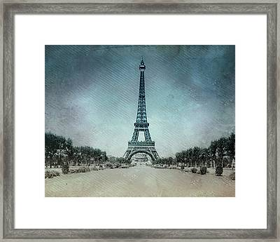 Vintage Eiffel Tower Framed Print by Bill Cannon