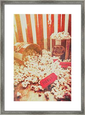 Vintage Entertainment Background Framed Print by Jorgo Photography - Wall Art Gallery