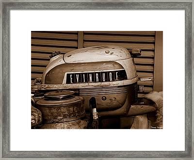 Vintage Evinrude Framed Print