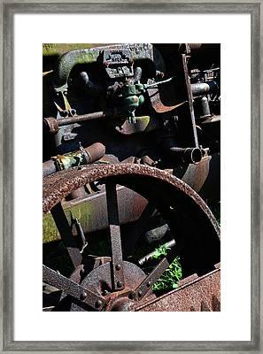 Vintage Farm Tractor Framed Print