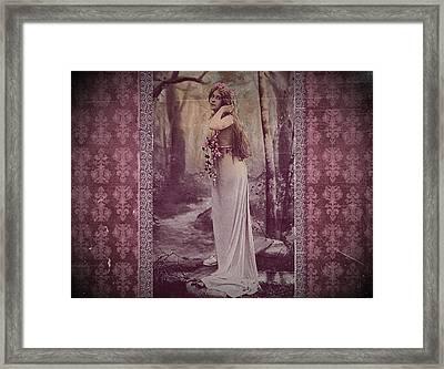 Vintage Femme Fatale Framed Print