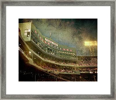 Vintage Fenway Park At Night Framed Print
