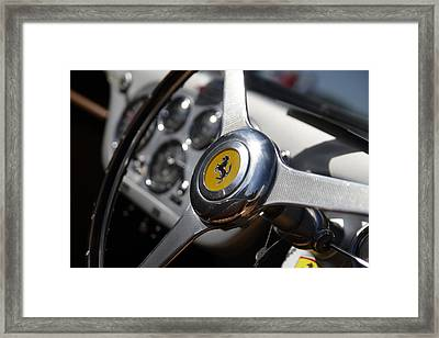 Framed Print featuring the photograph Vintage Ferrari Wheel by Joel Witmeyer