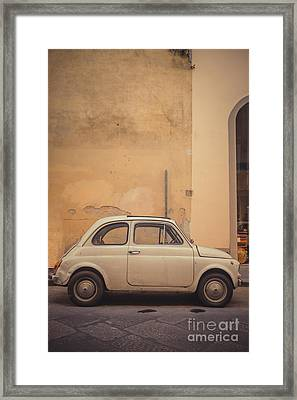 Vintage Fiat In Italy Framed Print by Edward Fielding