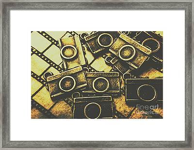 Vintage Film Camera Scene Framed Print