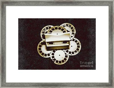 Vintage Film Toy Framed Print