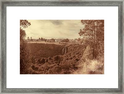 Vintage Fine Art Landscape. Tasmania Country Towns Framed Print by Jorgo Photography - Wall Art Gallery