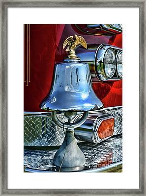 Vintage Fire Bell Framed Print