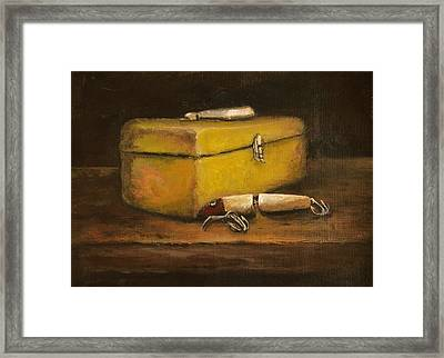 Vintage Fishing Tackle Framed Print by Kimberly Benedict