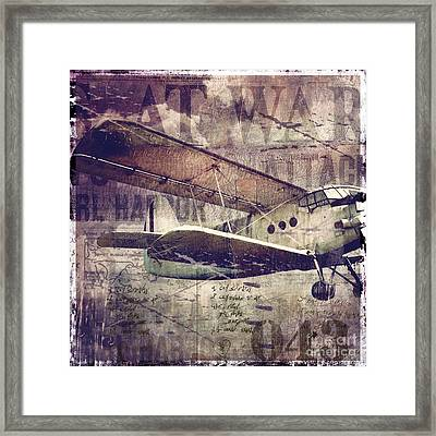 Vintage Fixed Wing Airplane Framed Print