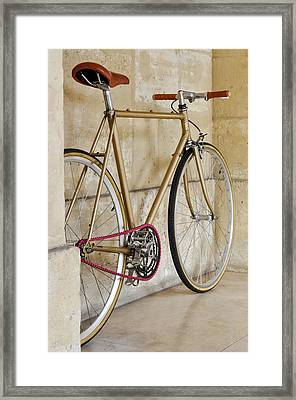 Vintage Fixie With A Pink Chain Framed Print by Dutourdumonde Photography