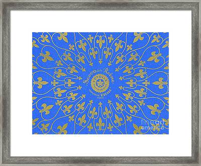 Vintage Fleur De Lis Pattern Design Framed Print by French School