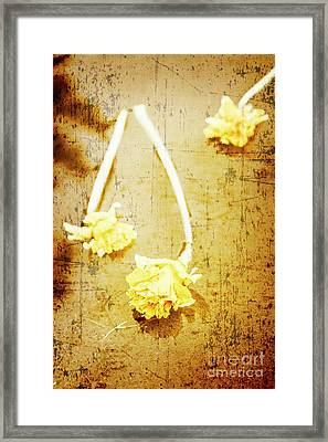 Vintage Floating River Flowers Framed Print