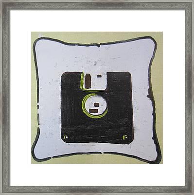 Vintage Floppy Framed Print by Pallavi Karve