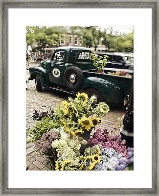 Vintage Flower Truck-nantucket Framed Print by Tammy Wetzel