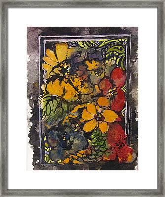 Vintage Flowers Framed Print