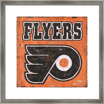 Vintage Flyers Sign Framed Print by Debbie DeWitt
