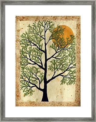 Vintage Folk Art Framed Print