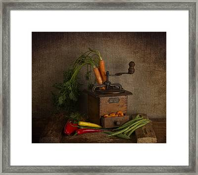 Vintage Food Processor - Coffee Grinder  Framed Print by Guna Andersone