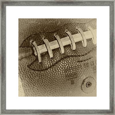Vintage Football 2 Framed Print by David Patterson