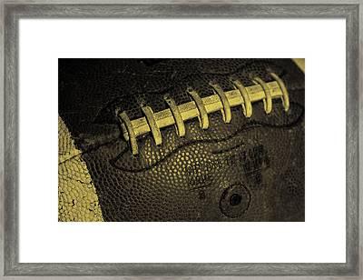 Vintage Football 4 Framed Print by David Patterson
