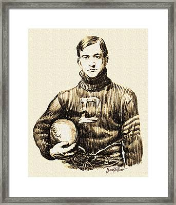 Vintage Football Framed Print by Harry West