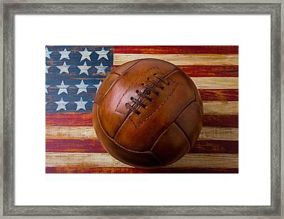 Vintage Football Soccer Framed Print