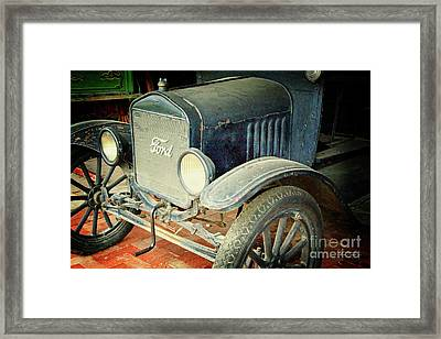 Vintage Ford Framed Print by Inspirational Photo Creations Audrey Woods