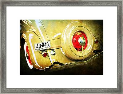 Vintage Ford Framed Print by Cathie Tyler