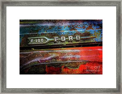 Vintage Ford F100 Framed Print