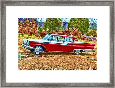 Vintage Ford Galaxie Framed Print by Lesa Fine